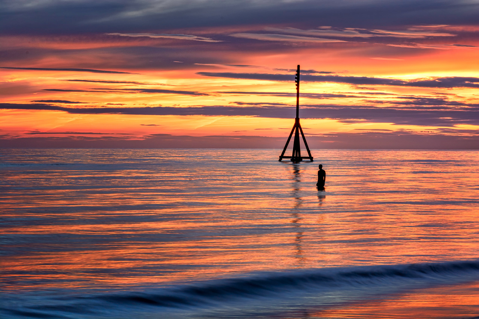 Chester Photographer Sunset over Crosby